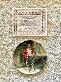 """""""The King and I"""" Series: A Puzzlement Collector Plate San Diego"""