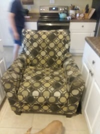 brown and black floral sofa chair Port Richey, 34668