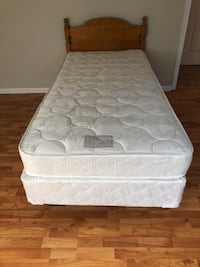 Twin Bed mattress and Box spring Extra long with frame
