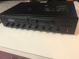 Speco technology stereo amplifier 4 clr microphone inputs