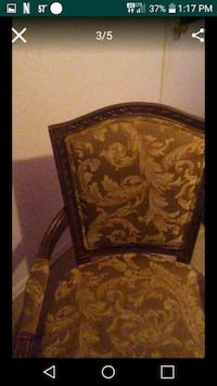 brown and black floral leather armchair screenshot Edmond, 73034