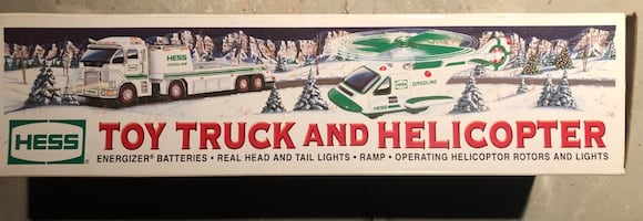 Hess toy truck and helicopter, 2006!
