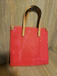 women's red leather tote bag Reading, 19601