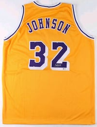Magic Johnson Signed Jersey with COA Surrey, V3W 1G2