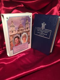 Charles and Diana commemorative bible, silver page edges, $10 St Thomas, N5P 1Z9