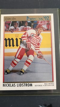 Hockey Niklas Lidstrom 1992 Hockey Card Georgetown, L7G 5Y1