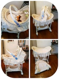 baby's white and gray cradle and swing Lorton, 22079