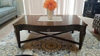 Brown Basset table with drawer