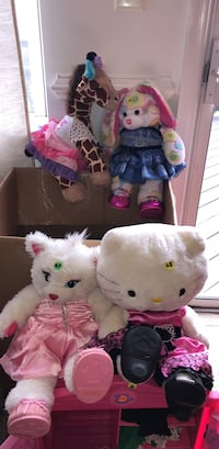 two white and pink bear plush toys Leesburg, 20176