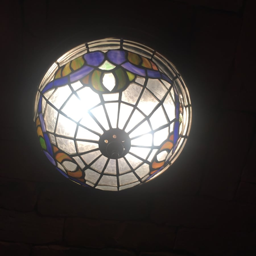 Stained glass ceiling light x2
