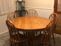 Nice wood table and  5 chairs. Point Pleasant, 08742