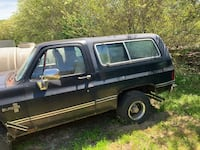black single cab pickup truck with camper shell Stafford, 22554