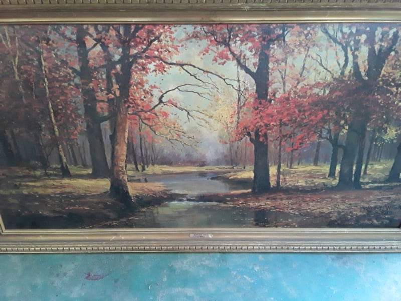 Vintage 1960 Painting by Robert Wood Signed 2fd7cc2a-a39e-43d9-bef1-66f98170cacc