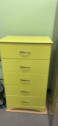 Clearance sale neon five drawer chestFinal price $90 Essex