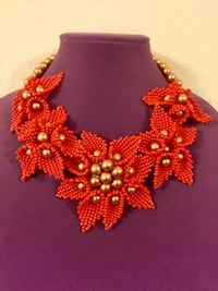 red and gold-colored beaded necklace Dallas, 75252