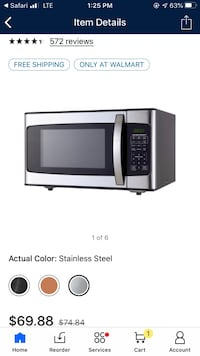 Hamilton Beach 1.1 Cu. Ft. 1000W Stainless Steel Microwave Alexandria, 22311