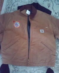 brown and blue zip-up jacket Pacifica, 94044