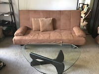 Couch/Chaise/Bed futon, w/covers & pillows