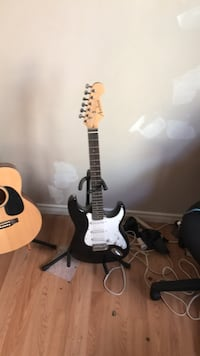 black and white stratocaster electric guitar Calgary, T2C 0V4