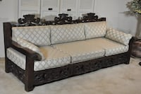 Large hand carved sofa DALLAS