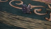 Beautiful butterfly sterling silver ring