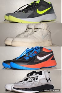 pair of white-and-blue Nike basketball shoes Winnipeg, R3M 3H3