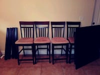 rectangular brown wooden table with four chairs dining set Edgewood, 32809