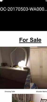 Smoke free Pets free off white upright dressar &drassing table with mirror..excellent condition no scratches,only serious buyer can text & mes Markham, L6B 0N3