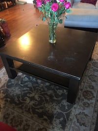 "Large, solid wood coffee table 40""x40""x18""H"
