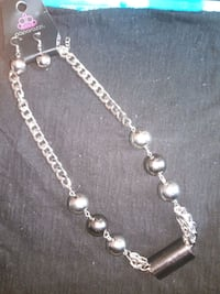 silver and white beaded necklace Lynn, 01902
