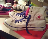 pair of white-and-purple Converse All Star high-to Barnwell, 29812