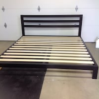 King size metal frame only with wooden slats Troy, 45373