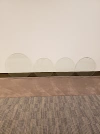 FIVE (5) SMALL, ROUND GLASS TABLETOPS - $5 to $10 each (see photos). Arlington, 22204
