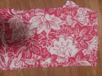 white and pink floral textile Tyrone, 16686