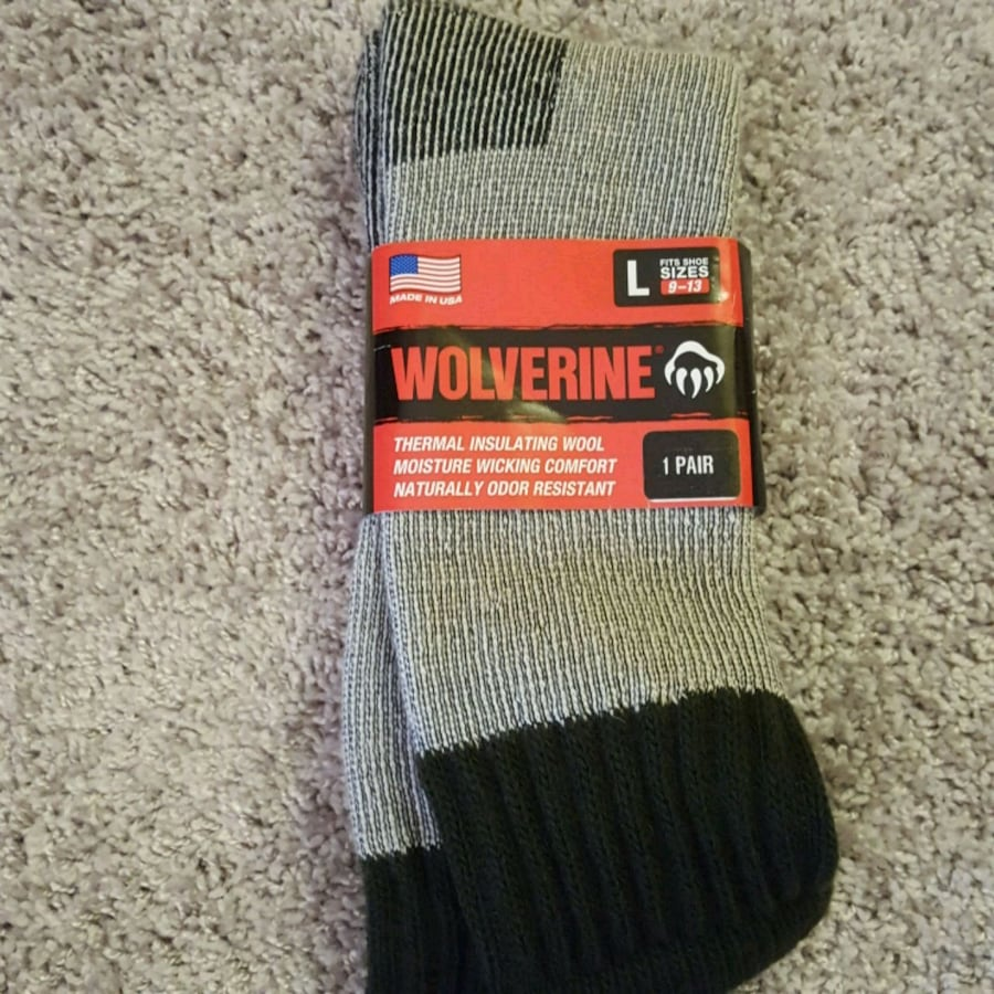 Wolverine men's thermal insulating over thr calf wool socks