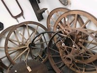 variety of Antique wheels  Manassas
