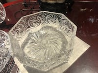 Very large heavy, footed  hand cut pinwheel crystal bowl/salad bowls/serving bowl... Hamilton, L9A 1T3