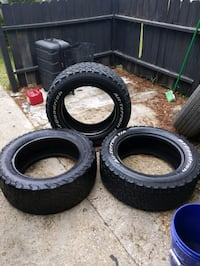 Tires BF Goodrich 285 55 R20  3 good Tires $100 for all three