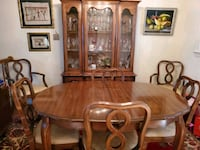 Thomasville Walnut Dining table and China Hutch Springfield, 22153