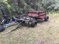 Black and red utility trailer Morinville