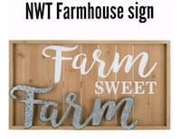New large farmhouse rustic home decor wall sign York