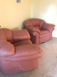 brown 4 piece leather sofa. Slight torn on armrest but can be fixed  Herndon, 20171