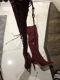 pair of brown leather boots Brampton, L6P 3E5