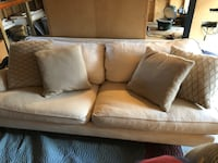 Cream cloth couch and throw pillows  Royal Oak, 48073