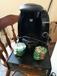 black and gray Bosch Tassimo coffeemaker 2467 km