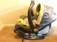 Chicco car seat carrier and base lemonade color