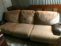 brown suede 3-seat sofa Seattle, 98133