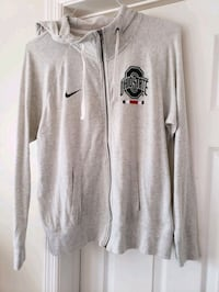 Nike Ohio state jacket w hood, size large, fits like medium see descri