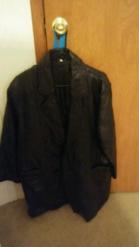 Womens black genuine leather jacket Mobile County