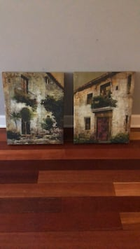 brown wooden framed painting of house Baltimore, 21224